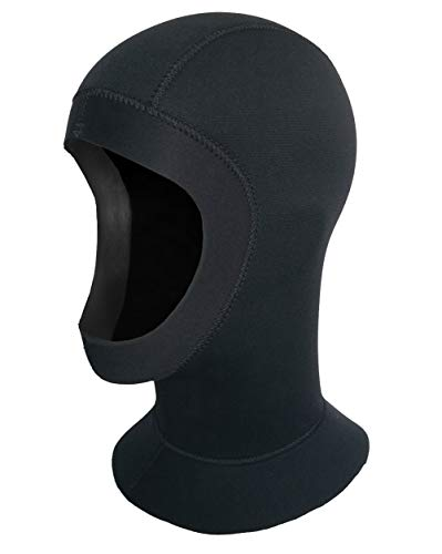 SLINX Diving Hood Neoprene Surfing Hood Comfortable Vented Hood Swimming Water Hood Wetsuit Snorkeling Hood Thermal Dive Hood Flexible Sailing Hood