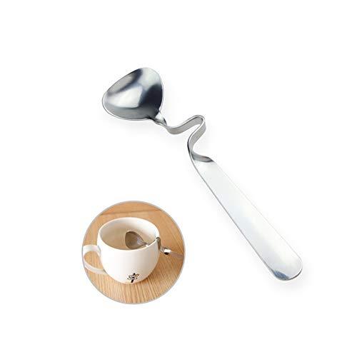 Coffee Spoon Hanging Scoop Bending Creative Creative Elegance Coffee Spoon Stainless Steel Dessert Spoon Coffee Scoop Tea Spoon