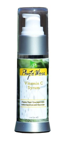 PhytoWorx Vitamin C Anti Aging Serum   Best for All Skin Types   Look 10 Years Younger