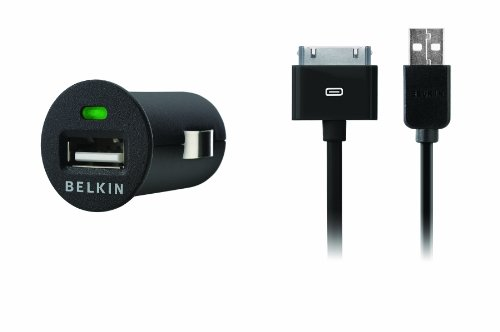 Belkin F8Z446tt Micro Auto Charger with Charge Sync Cable