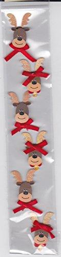 3d Sticker Strip - Christmas Stickers - Reindeer -