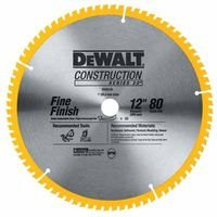 DEWALT DW3128 Series 20 12-Inch 80 Tooth ATB Thin Kerf Crosscutting Miter Saw Blade with 1-Inch Arbor