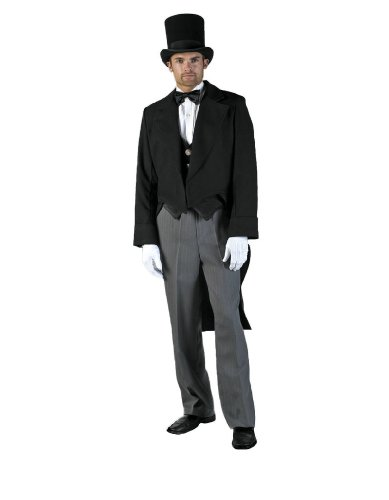 [Men's Gentleman Tail suit Theater Costume, Large] (Caroler Costumes)