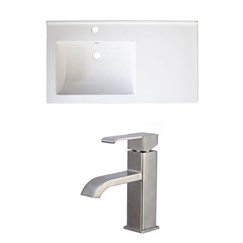 American Imaginations AI-15887 Ceramic Top Set with Single Hole CUPC Faucet, 34