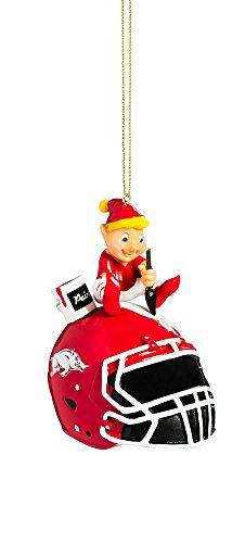 Team Sports America Arkansas Razorbacks Helmet Elf Ornament (Arkansas Razorbacks Santa Hat)