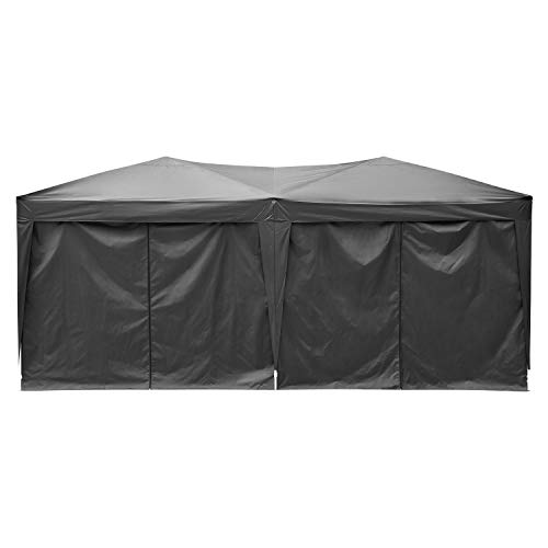 Hiriyt 3x3m/3x6m Garden Gazebo Marquee Tent With Side