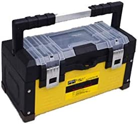 Dong-WW 工具箱 家庭用屋外の修復ツールの収納ボックスに適した、黄色材料多サイズ(36 * 16.5 * 16.5センチ)(カラー:イエロー、サイズ:36 * 16.5 * 16.5センチ)
