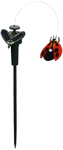 - Solar Yard Stake Fluttering Insects, Solar or Battery Powered (Ladybug)