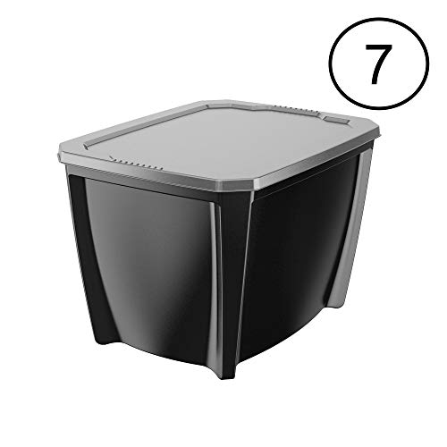 Life Story Black 20 Gallon Storage Tote (7 Pack) ()