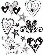 (Scribbles Hearts and Stars)