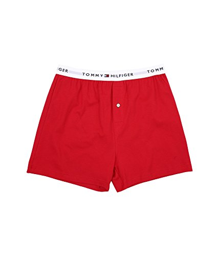 Tommy Hilfiger Mens Knit Boxer (Tommy Hilfiger: Athletic Knit Boxer (Small, Mahogany))
