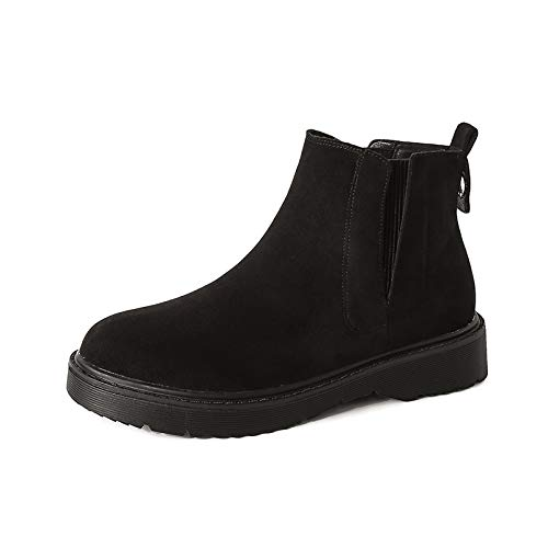 Shukun Stiefeletten Martin Stiefel Damen Kurze Stiefel Damen Scrub Stiefel Damen Retro Schuhe