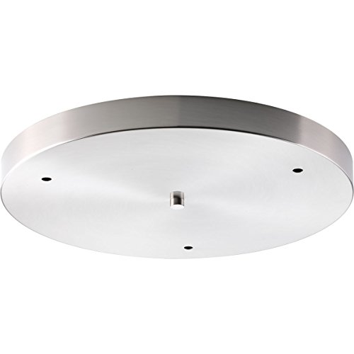 Progress Lighting P8403-09 Traditional/Casual Canopy Accessory, Brushed Nickel Brushed Steel Canopy