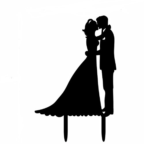 (JUYUE Wedding Couple Decoration Cake Topper Anniverary Family Bride Groom)