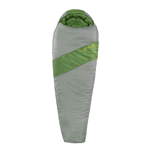 Eureka! Cypress 15-Degree Junior Sleeping Bag, Green/Grey (3 Pounds 7 Ounces)