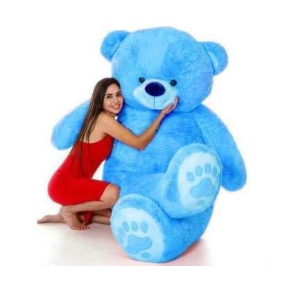 HONEYDEAL Toys Love Teddy Bear for Girls, Panda Teddy Bears, tady Bears Toys Big Size Latest Blue, 4 Feet