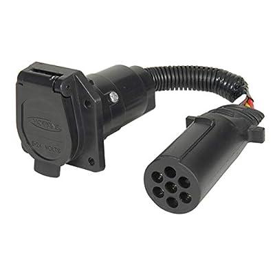 Hopkins 47425 7 Pin Round to 7 RV Blade Adapter: Automotive