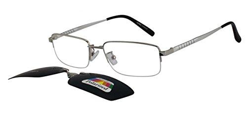 EyeBuyExpress Bifocal Men Women Eyewear Readers Prescription Clip On Sunglasses - Sunglasses Express On Vision Clip