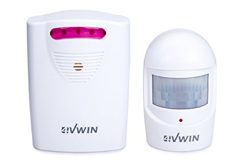 4VWIN Wireless Home Security Driveway Alarm 1 Receiver and 1