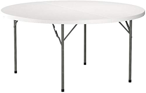 Flash Furniture 60'' Round Granite White Plastic Folding Table (Room 60' Dining Round)