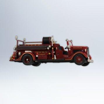 1936 Ford Fire Engine Fire Brigade #10 2012 Hallmark Ornament