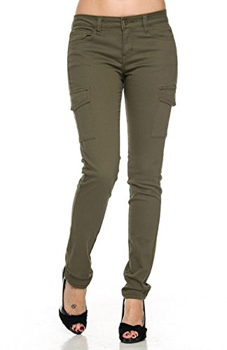 Olive Green Cargo Pants - 4
