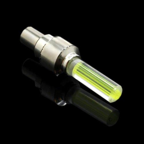 CoverON LEDフラッシュタイヤホイールタイヤバルブキャップライト イエロー D504-WC-TIRELED-YW4