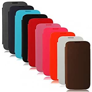 Flip-Open PU Leather Protective Case For Samsung Galaxy S4 i9500 --- Color:White