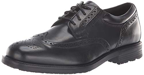 Wide Wing - Rockport Men's Essential Details Water Proof Wing Tip Oxford,Black,10 M US