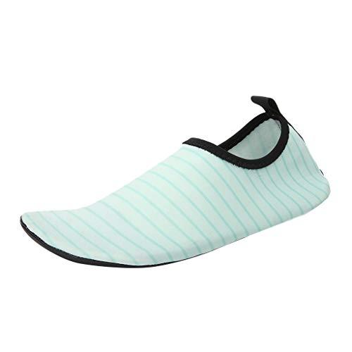 Pongfunsy Water Shoes Quick Dry Swim Aqua Barefoot Socks for Women - Socks Strappy Aqua Mens