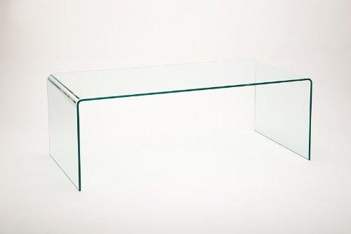 Vetrostyle Design Couchtisch Gebogenes Glas Maxi Amazonde Küche