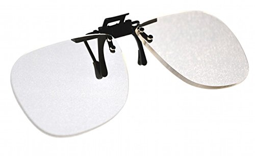Magna-flip Clip on Flip up Magnifiers, Converts Distance Glasses and Into Reading and Computer Glasses. +4.50 Power