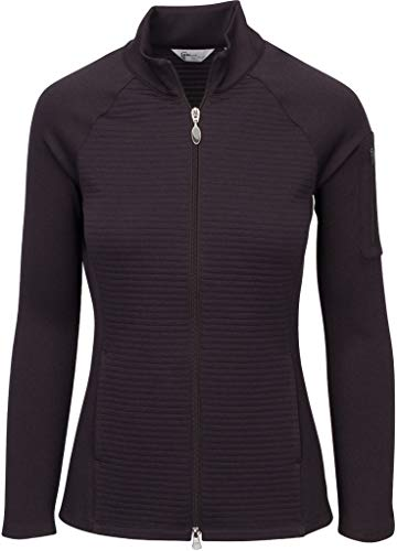 Greg Norman Women's Ottoman Knit Jacket, Carbon, X-Large
