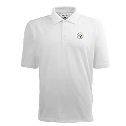 ad5647f5d24 Image Unavailable. Image not available for. Color  Pittsburgh Steelers NFL   quot Pique Xtra-Lite quot  Men s Polo ...