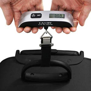 Camry Digital Luggage Scale 110 Lbs Portable High Precision Travel Hanging Postal Scale with Temperature Sensor and Tare Function Gift for Traveller