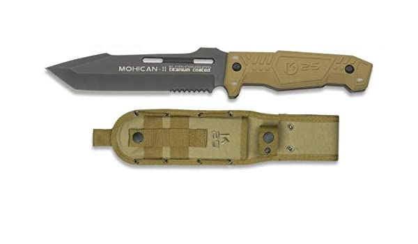 K25 Cuchillo Mohican II Acero Inoxidable y Titanio. Mango ...