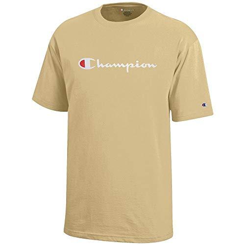 (Champion Script Logo Youth (Vegas Gold) Short Sleeve T-Shirt)