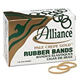 Alliance 20325 Pale Crepe Gold Rubber Bands, Sz. 32, 3 X 1/8, 1lb Box