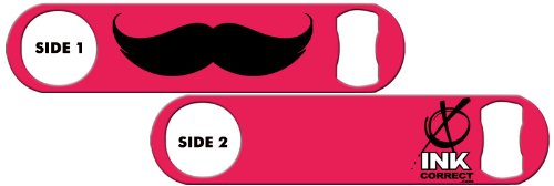 Killer Inked Bottle Opener: Mustache Plain 1 - Hot Pink