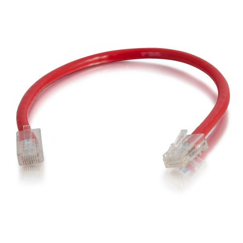 C2G/Cables to Go 22687 Cat5E Non-Booted Unshielded (UTP) Network Patch Cable, Red (7 Feet/2.13 Meters) (Assembled Red Patch Cable)