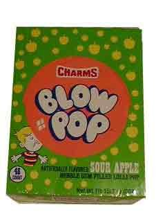 Charms Sour Apple Blow Pops (Blo Pops) Lollipops (Blo Pops)