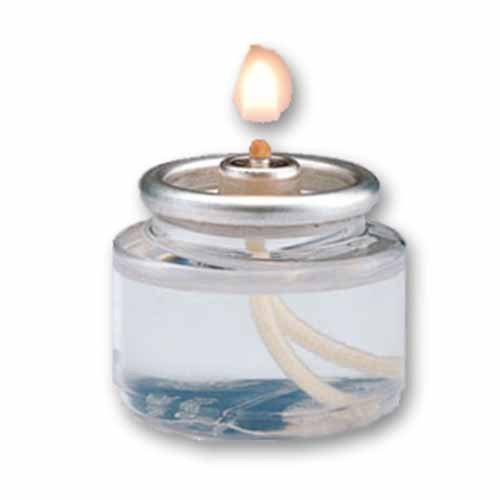 Hollowick HD8-90 8-Hour Liquid Tealight Disposable Clear Plastic Fuel Cell (90 Each per Case) ()