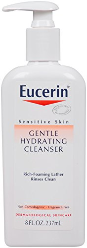 Eucerin Sensitive Skin Gentle Hydrating Cleanser, 8 Ounce (Pack of 4)