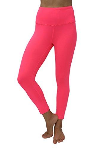 90 Degree By Reflex – High Waist Tummy Control Shapewear – Power Flex Capri-Flashmode Neon-M