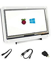 Waveshare 7 Inch Capacitive Touch Screen LCD(C) With Bicolor Case 1024*600 HDMI Interface Display Shield Panel Supports Raspberry Pi/BB BLACK/PC/Various Systems/Raspberry Pi 3 Model B/3B+/Raspberry Pi 4