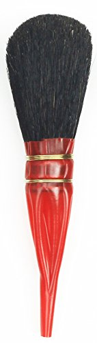 da Vinci 750-10 Double Quill Gilder Oval Shaped Mop, Black, Goat Hair, Size 10 by da Vinci Brushes (Image #1)