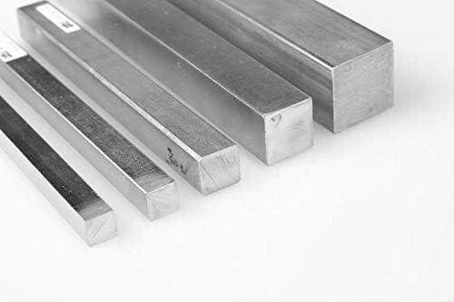 1 Meter Edelstahl Vierkantstab 6x6mm (1.4021 / Aisi - 420 / DIN — X20Cr13) Stange Quadratstab Vollmaterial