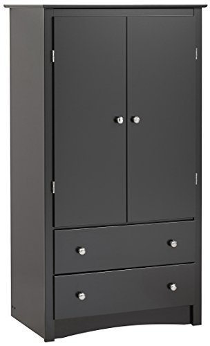 black sonoma 2 door armoire