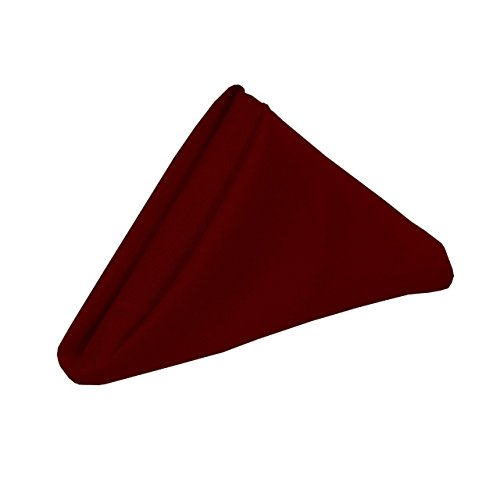 Dream Linen Pack of 10 (18 x 18 inch) Cloth Dinner Table Napkins - Machine Washable, Restaurant/Wedding/Hotel Quality and Regular Home Use 100% Cotton Fabric - Burgundy