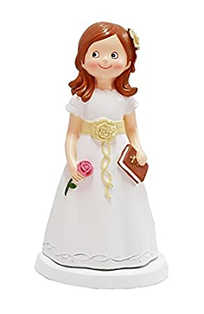 DISOK - Figura Pastel Comunión Niña Libro - Figuras de Pastel Comuniones Niñas Comprar Baratas